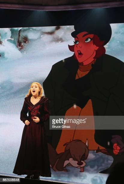 Christy Altomare as Anastasia performs during a special Broadway performance of 'Journey To The Past' to honor The 20th Anniversary of the Oscar...