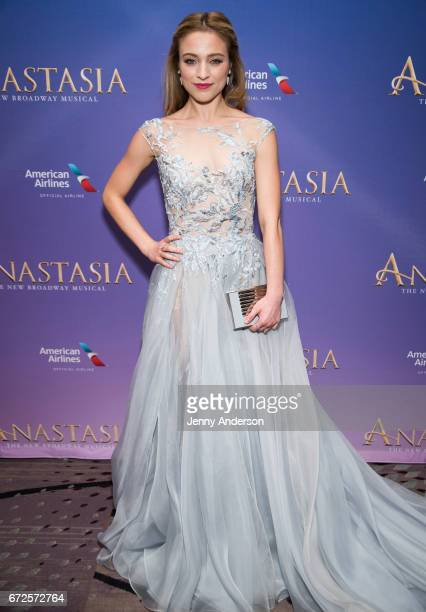 Christy Altomare attends 'Anastasia' Broadway opening night at Marriott Marquis Times Square on April 24 2017 in New York City