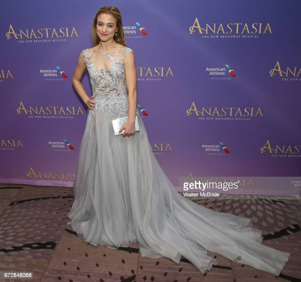 Christy Altomare attends Broadway Opening Night After Party for 'Anastasia' at the Mariott Marquis Hotel on April 24 2017 in New York City