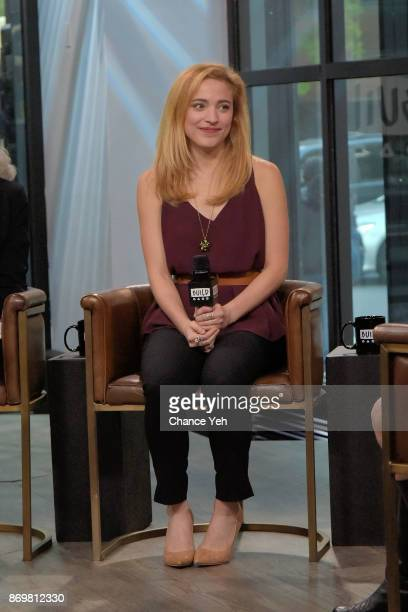 Christy Altomare attends Build series to dicsuss 'Anastasia' at Build Studio on November 3 2017 in New York City