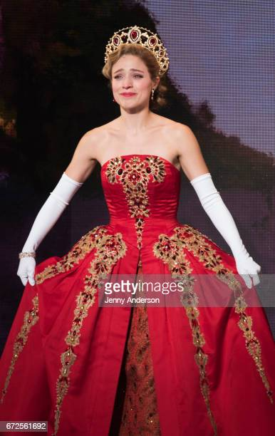 Christy Altomare during 'Anastasia' opening night curtain call at The Broadhurst Theatre on April 24 2017 in New York City