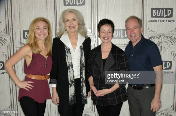 Christy Altomare Mary Beth Peil Lynn Ahrens and Stephen Flaherty attend Build series to dicsuss 'Anastasia' at Build Studio on November 3 2017 in New...