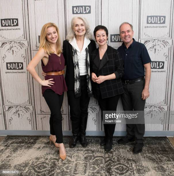 Christy Altomare Mary Beth Peil Lynn Ahrens and Stephen Flaherty visit Build series to discuss 'Anastasia' at Build Studio on November 3 2017 in New...