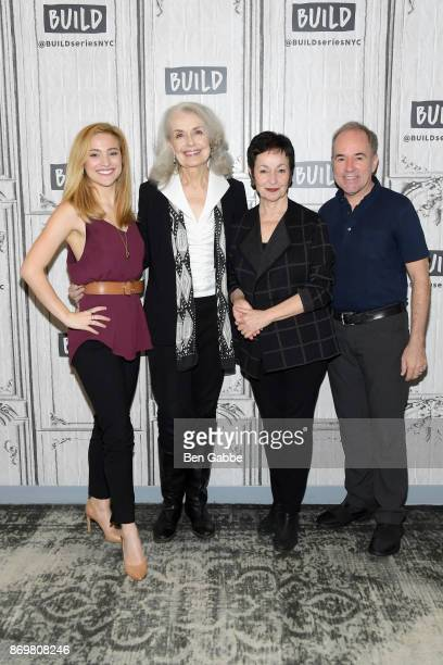 Christy Altomare Mary Beth Peil Lynn Ahrens and Stephen Flaherty visit the Build Series to discuss 'Anastasia' at Build Studio on November 3 2017 in...