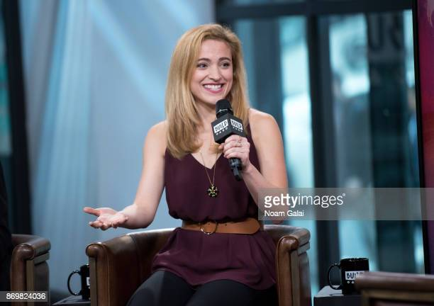 Christy Altomare visits Build series to discuss 'Anastasia' at Build Studio on November 3 2017 in New York City