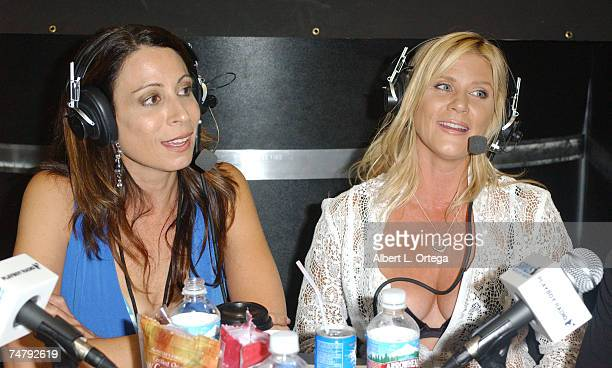 Christy Canyon and Ginger Lynn at the Los Angeles Convention Center in Los Angeles CA