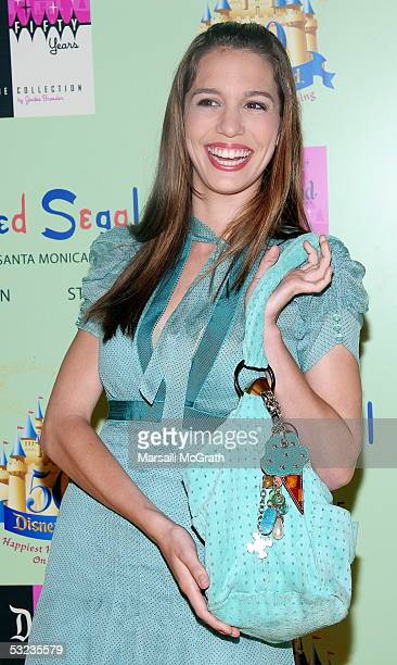 Christy Carlson Romano Attends The Disneyland 50th Anniversary Limited Edition Of Tees Designed By Jackie Brander