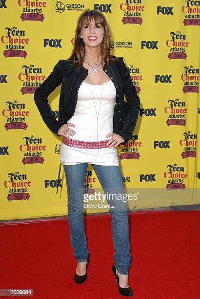 Christy Carlson Romano during 2005 Teen Choice Awards - Arrivals at Gibson Amphitheatre in Universal City, California, United States.