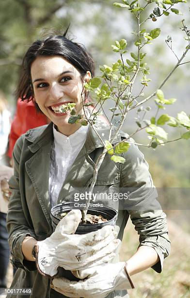 Christy Carlson Romano during EMA and E Entertainment Television Tree Planting Event April 4 2007 at Tree People in Beverly Hills California United...