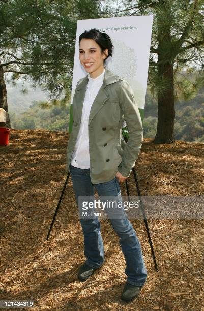 Christy Carlson Romano during EMA and E Entertainment Television Tree Planting Event April 4 2007 at Tree People's Headquarters in Coldwater Canyon...