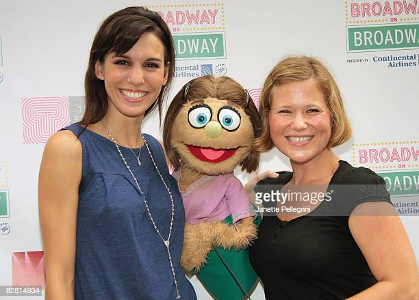 Christy Carlson Romano Kate Monster and Carey Anderson from Avenue Q attend Broadway on Broadway in Times Square on September 14 2008 in New York City