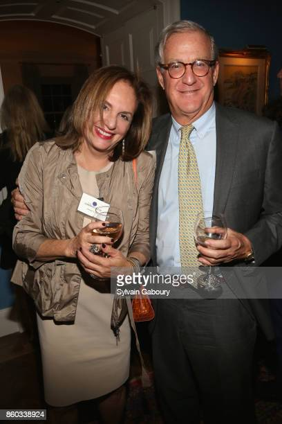 Christy Ferer and Tom Edelman attend The Common Good proudly presents an intimate conversation with Admiral Mike Mullen former Chairman Joint Chiefs...