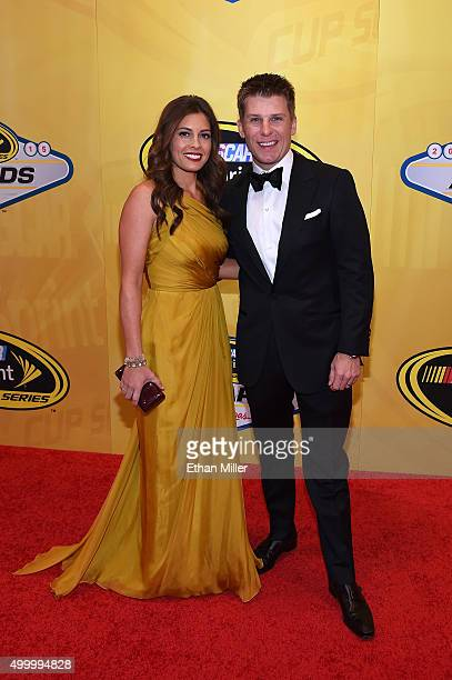 Christy Futrell and her husband NASCAR Sprint Cup Series driver Jamie McMurray attend the 2015 NASCAR Sprint Cup Series Awards at Wynn Las Vegas on...
