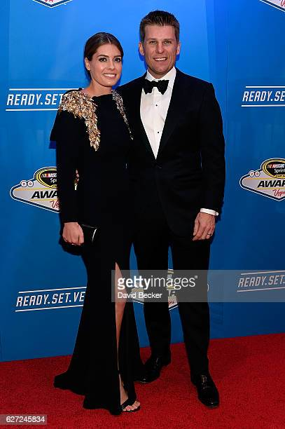 Christy Futrell and her husband NASCAR Sprint Cup Series driver Jamie McMurray attend the 2016 NASCAR Sprint Cup Series Awards at Wynn Las Vegas on...