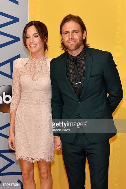 Christy Hardesty and Singer Canaan Smith attends the 50th annual CMA Awards at the Bridgestone Arena on November 2 2016 in Nashville Tennessee