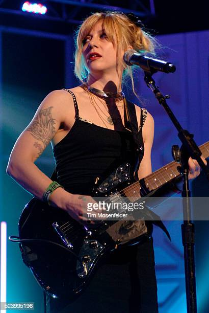 Christy Hunt of The Von Bondies performs at The Bat Bar as part of SXSW 2009 on March 19 2009 in Austin Texas Photo by Tim Mosenfelder / Tim...