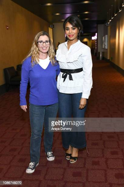 Christy Lemire and Regina Hall attend the Film Independent Spirit Awards Screening Series 'Support The Girls' at ArcLight Culver City on January 22...