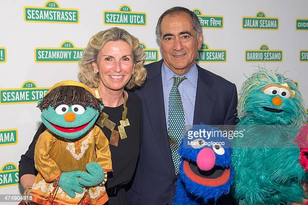 Christy Mack and Former Morgan Stanley CEO John Mack attend Sesame Workshop's 13th Annual Benefit Gala at Cipriani 42nd Street on May 27 2015 in New...
