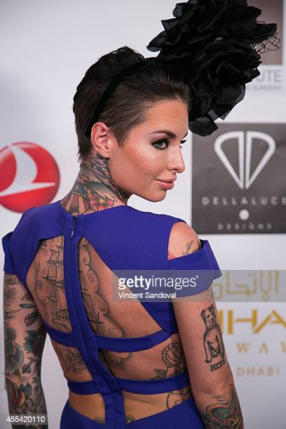 Christy Mack attends the Face Forward Foundation's Charity Gala supporting victims of domestic abuse at Millennium Biltmore Hotel on September 13...