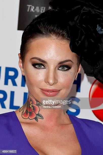 Christy Mack attends the Face Forward gala supporting victims of domestic abuse at Millennium Biltmore Hotel on September 13 2014 in Los Angeles...
