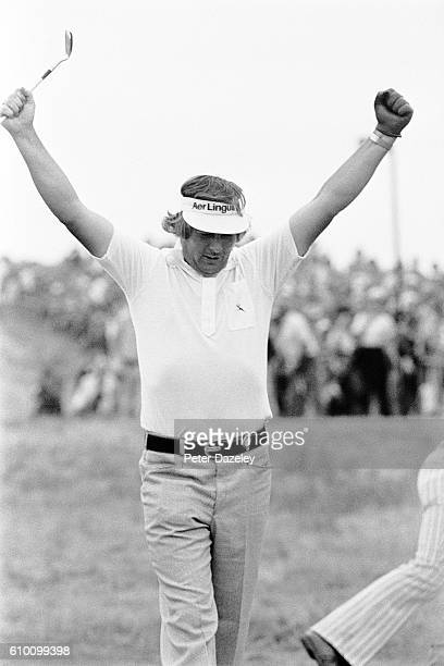 Christy O'Connor Jnr of Ireland during the 105th Open Championship played on the Royal Birkdale Golf Club on July 10 1976 in Southport England