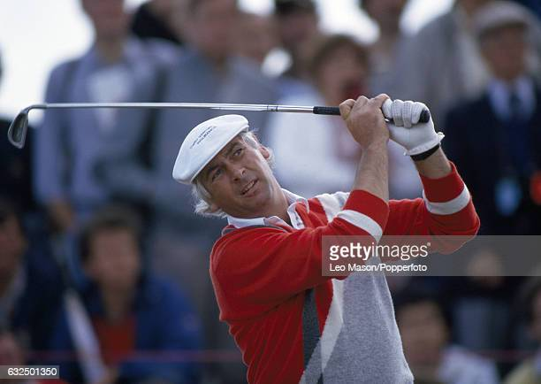 Christy O'Connor Junior of Ireland in action during the British Open Golf Championship at Royal St George's Golf Club in Sandwich circa July 1985