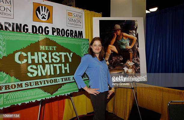 Christy Smith of Amazon Survivor during Christy Smith of Survivor Amazon Appearance at Sam Simon Foundation's Hearing Dog Program at the Deaf Expo at...