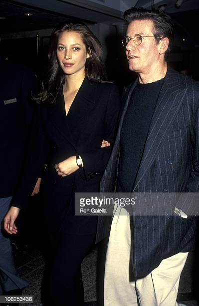 Christy Turlington and Calvin Klein during Calvin Klein Introduces Women's Underwear Collection February 7 1995 at Bloomingale's in New York City New...