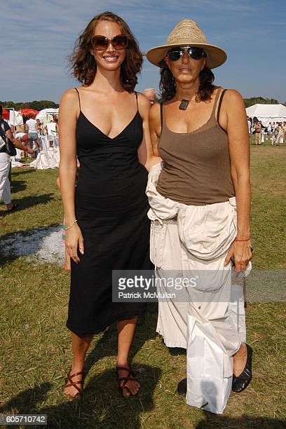Christy Turlington and Donna Karan attend SUPER SATURDAY 9 hosted by Kelly Ripa Donna Karan and InStyle Magazine To Benefit The Ovarian Cancer...