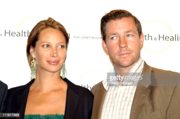 Christy Turlington and Ed Burns during Organic Elegance An Evening of Organic Ambiance World Music and Holistic Elegance to Benefit The Continuum...