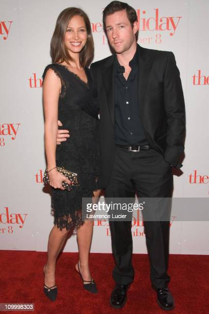 Christy Turlington and Ed Burns during The Holiday New York Premiere Arrivals in New York City New York United States