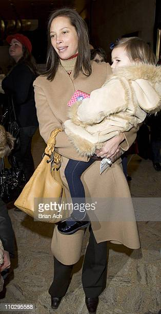 Christy Turlington and Grace Burns during 'The Nutcracker' Family Benefit December 9 2006 at New York State Theater at Lincoln Center in New York...