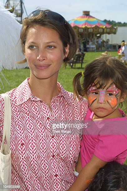 Christy Turlington and niece Cameron during Fourth Annual 'Super Saturday' Benefit held at Nova's Ark Project in Water Mill New York at Nova's Ark...