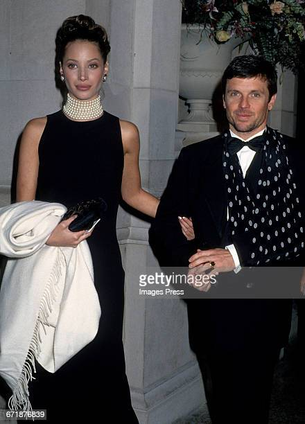 Christy Turlington and Roger Wilson attend the 1992 Metropolitan Museum of Art's Costume Institute Gala circa 1992 in New York City