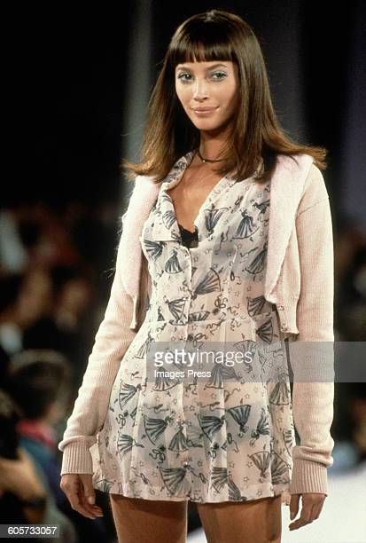 Christy Turlington at the Anna Sui Spring 1994 show circa 1993 in New York City