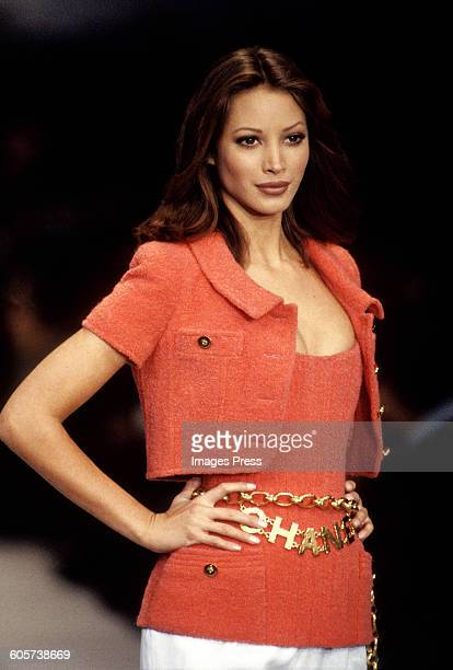 Christy Turlington at the Chanel Spring 1993 show circa 1992 in New York City