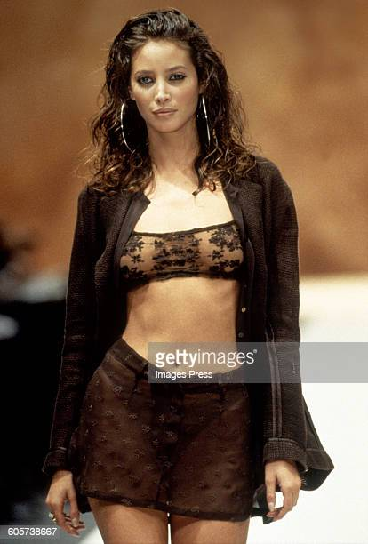 Christy Turlington at the Rifat Ozbek Spring 1994 show circa 1993 in Milan Italy