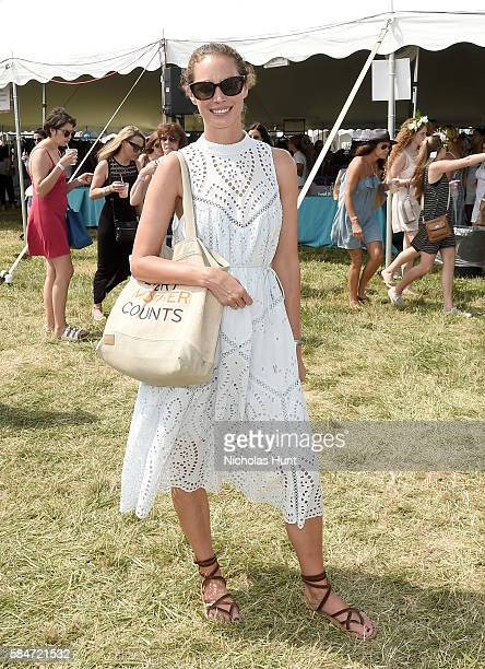 Christy Turlington attends OCRFA's 19th Annual Super Saturday NY Hosted by Kelly Ripa Donna Karan and Gabby Karan de Felice on July 30 2016 in...