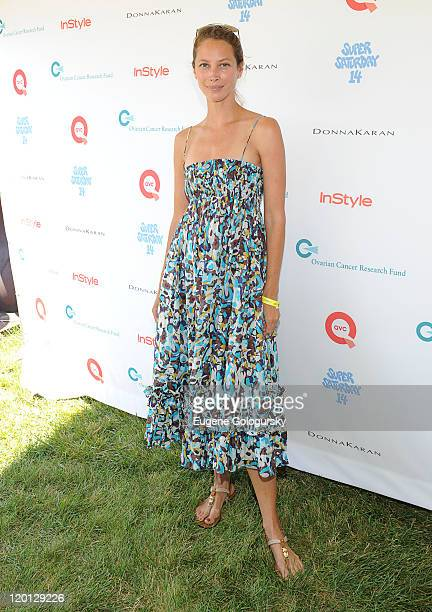 Christy Turlington attends Super Saturday 14 To Benefit OCRF Hosted By Emma Roberts Kelly Ripa Donna Karan Instyle at Nova's Ark Project on July 30...
