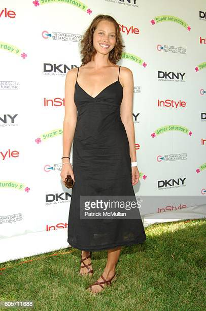 Christy Turlington attends SUPER SATURDAY 9 hosted by Kelly Ripa Donna Karan and InStyle Magazine To Benefit The Ovarian Cancer Research Fund at...