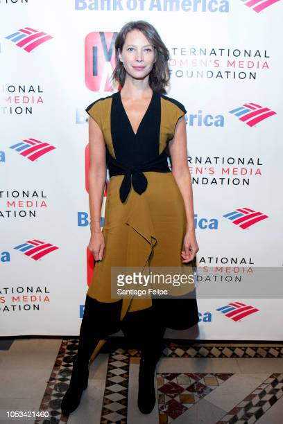 Christy Turlington attends the 2018 International Women's Media Foundation's Courage In Journalism Awards at Cipriani 42nd Street on October 25 2018...