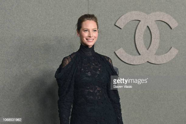 Christy Turlington attends the CHANEL Metiers d'Art 2018/19 Show at The Metropolitan Museum of Art on December 4 2018 in New York City