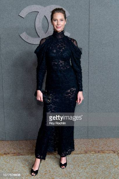 Christy Turlington attends the Chanel Metiers D'Art 2018/19 Show at The Metropolitan Museum of Art on December 04 2018 in New York City