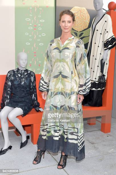 Christy Turlington attends the HM celebration of 2018 Conscious Exclusive collection at John Lautner's Harvey House on April 5 2018 in Los Angeles...