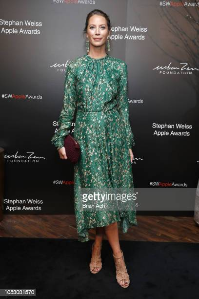 Christy Turlington attends the Stephan Weiss Apple Awards at Urban Zen on October 24 2018 in New York City