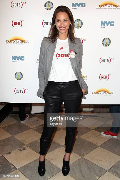 Christy Turlington attends the World AIDS Day event on December 1 2010 at Brooklyn Borough Hall in the Brooklyn borough of New York City