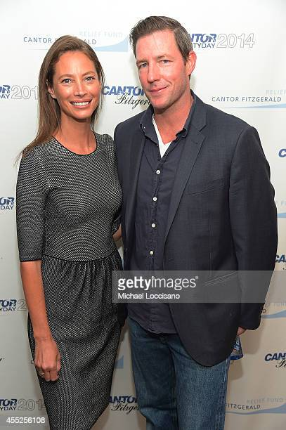 Christy Turlington Burns and Ed Burns attend Annual Charity Day Hosted By Cantor Fitzgerald And BGC at Cantor Fitzgerald on September 11 2014 in New...