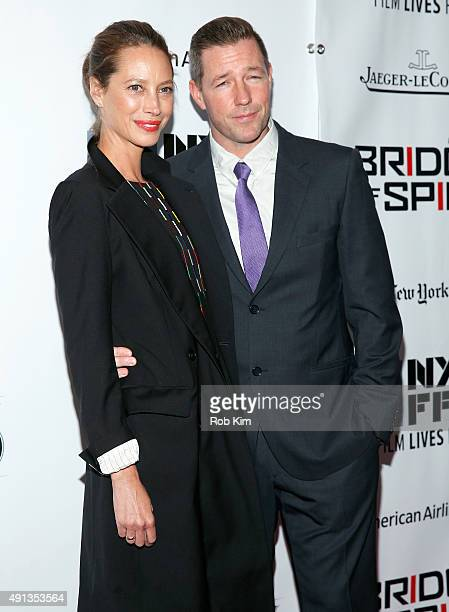 Christy Turlington Burns and Edward Burns attend the 53rd New York Film Festival Bridge Of Spies Arrivals at Alice Tully Hall Lincoln Center on...