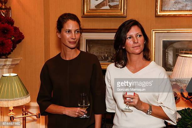 Christy Turlington Burns and Kelly Burns at the WomenOne Dinner on October 13 2016 in New York City