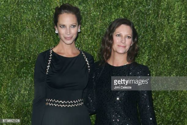 Christy Turlington Burns and Kelly Turlington Burns attend the 2017 Museum of Modern Art Film Benefit Tribute To Julianne Moore at Museum of Modern...